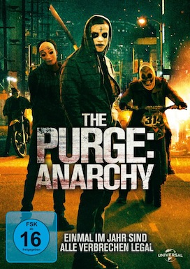THE PURGE &nbsp;ANARCHY<br />Universal,<br />FSK ab 16<br />ca. 13,- €